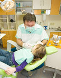 Dentist and girl Stock Photo