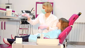 Dentist giving an injection stock footage