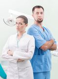 Dentist and his assistant Stock Image