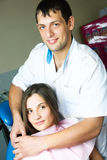 Dentist and his patient in the office Stock Photography