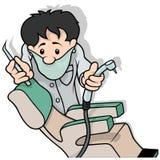 Dentist Holding Drill Royalty Free Stock Photos