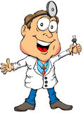 Dentist Holding a Tooth. Cartoon of a Dentist Holding a Tooth Royalty Free Stock Photography