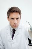 Dentist Holding Water Spraying Tool Royalty Free Stock Photos