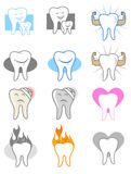 Dentist Icon Set. Dental Tooth Icons and Symbols Royalty Free Stock Photo
