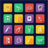 Dentist Icons Flat Design Stock Photo