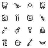 Dentist Icons Freehand Royalty Free Stock Photography
