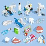 Dentist Icons Set Royalty Free Stock Image