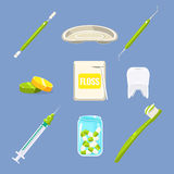 Dentist Icons and Teeth Care Set Stock Photography