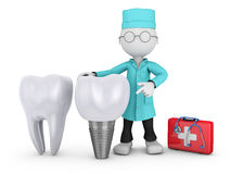Dentist and implant Stock Image