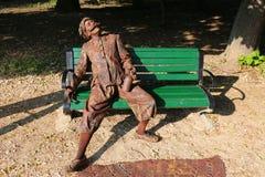 Dentist impostor - living statues Royalty Free Stock Photo