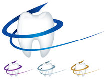 Dentist Logo. A dental company logo showing a tooth Stock Photo