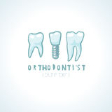 Dentist Logo Template Stock Photo