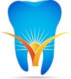 Dentist logo. A vector drawing represents dentist logo design Stock Photos
