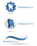Dentist logos. Several design elements, which can be used for your company logo Stock Image