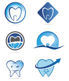 Dentist logos. Several design elements, which can be used for your company logo Stock Images