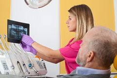 Dental treatment, x-ray Royalty Free Stock Images