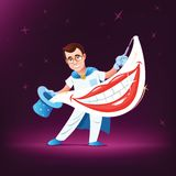 Dentist magician Royalty Free Stock Images