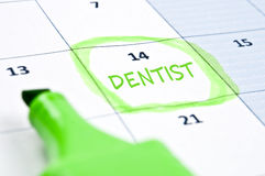 Dentist mark Royalty Free Stock Photos