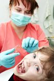 At dentist medic orthodontic doctor Stock Photos