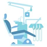Dentist medical office chair. Dentist medical office. Medical chair, dental care, dentist drill Royalty Free Stock Images