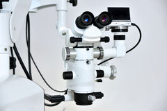 Dentist microscope. With foto camera for a teeth Royalty Free Stock Photos