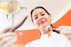 Dentist in office Royalty Free Stock Images