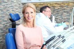 At dentist office Royalty Free Stock Images