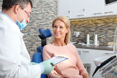 At dentist office Royalty Free Stock Photography