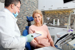 At dentist office Stock Photos