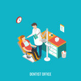 Dentist office during reception patient. Royalty Free Stock Image