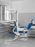 Dentist office wiht blue chair Royalty Free Stock Photos