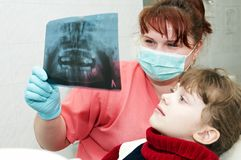At dentist orthodontic doctor Stock Photos