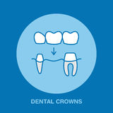 Dentist, orthodontics line icon. Dental crown, tooth treatment sign, medical elements. Health care thin linear symbol Royalty Free Stock Photo