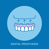 Dentist, orthodontics line icon. Dental prosthesis, tooth orthopedics sign, medical elements. Health care thin linear Stock Image