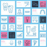 Dentist, orthodontics line icons. Royalty Free Stock Image