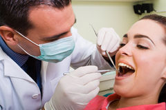 Dentist and patient Royalty Free Stock Image