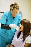 Dentist with patient Stock Image
