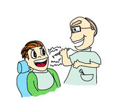 Dentist with patient Royalty Free Stock Photos