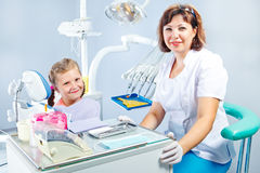 Dentist and a patient Royalty Free Stock Photography