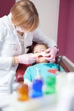 Dentist and patient Royalty Free Stock Photography