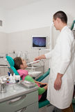Dentist and patient Royalty Free Stock Photos