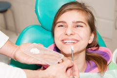 Dentist and patient Stock Image