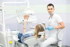 Dentist and patient Royalty Free Stock Photo