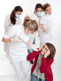 Dentist phobia Stock Images