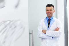 Dentist Portrait. Young Doctor at Dental Clinic. Teeth Care Royalty Free Stock Image