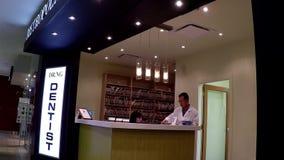 Dentist reception station stock video