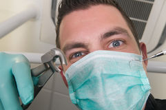 In the dentist\'s chair Stock Photo