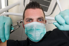 In the dentist\'s chair Royalty Free Stock Image