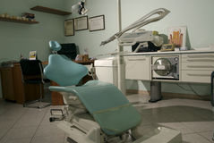 Dentist's chair. Modern studio with dentist chair Royalty Free Stock Photos