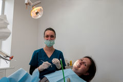 At dentist's office Royalty Free Stock Image
